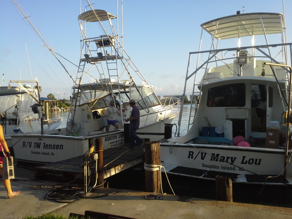Research Vessel, Auburn Marine Fish Lab, Dauphin, Island, Alabama, Ocean