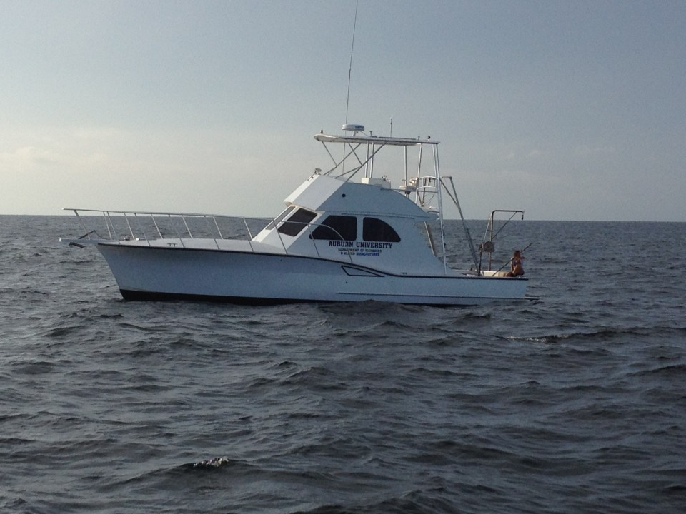 Auburn Marine Fish Lab, Research Vessel, Mary Lou