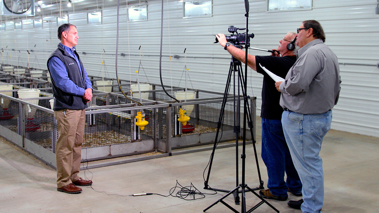A filming of Alabama Public Eduction at Auburn Poultry Miller Center