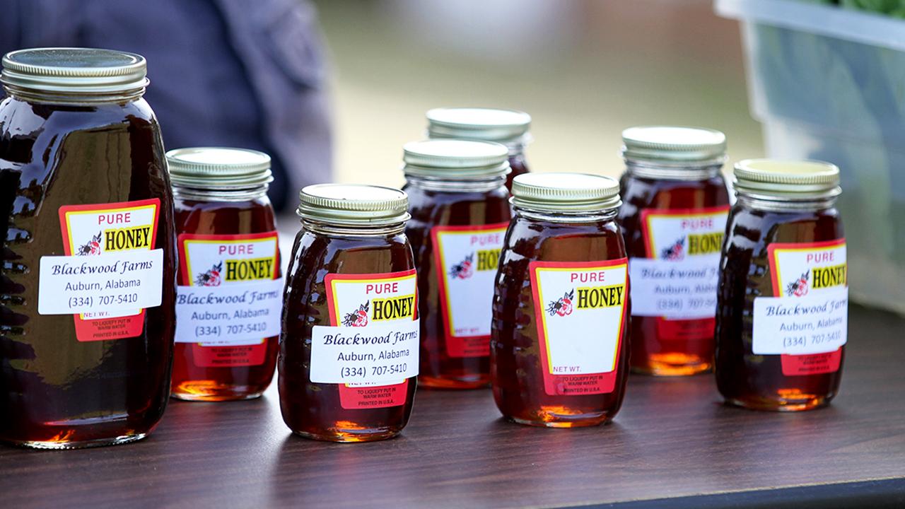 Honey jars at The Market from Blackwood Farms