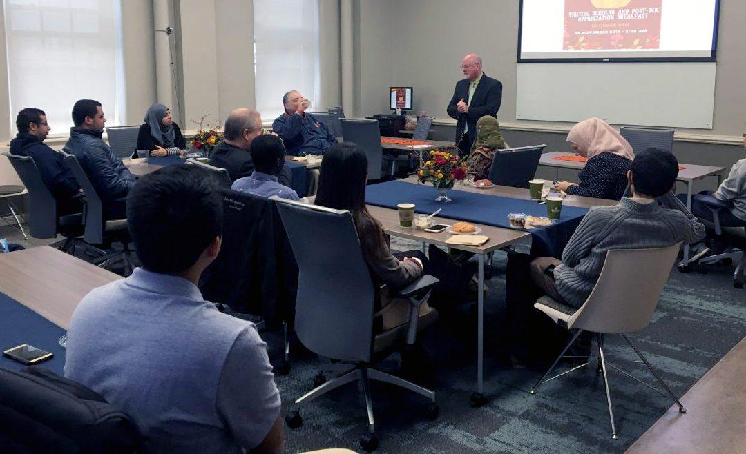 'ThanksforGiving to AU research' recognizes visiting scholars, postdocs