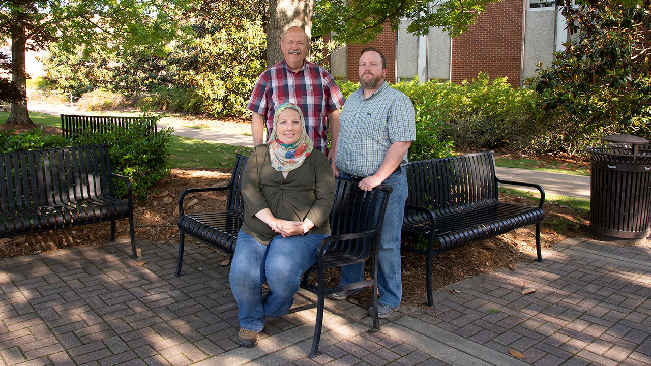 Auburn College of Agriculture research team photo, bacteria and bermudagrass