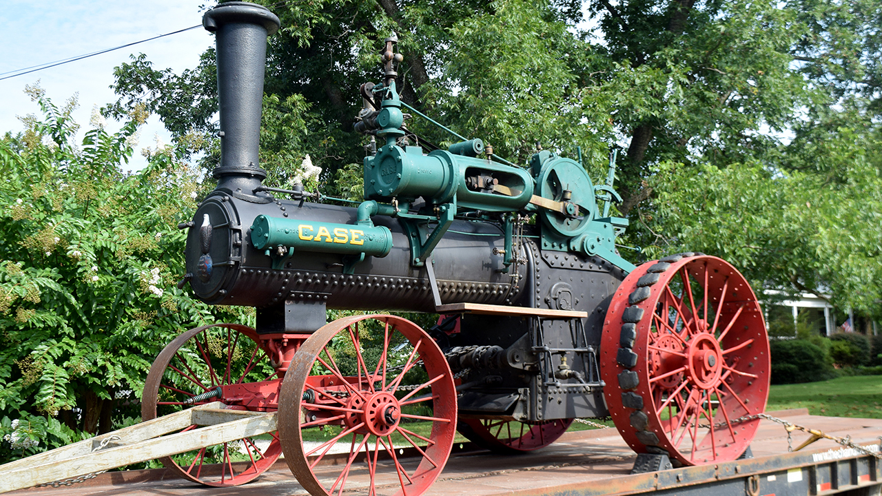 """Old Nancy"" 1905 Case steam engine historic tractor, Auburn, Opelika, Alabama, USA"