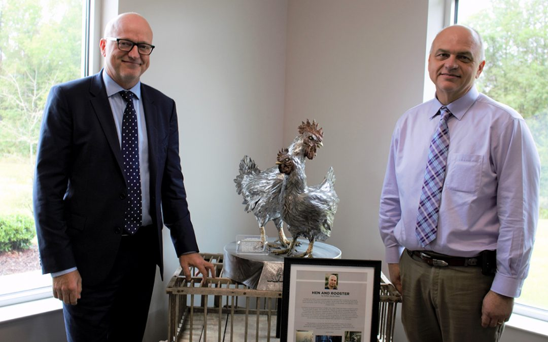Poultry Sculpture Unveiled