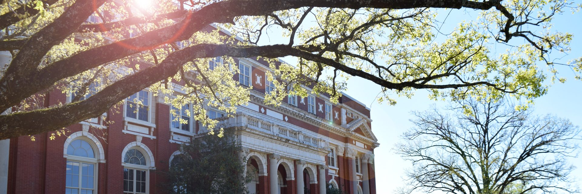 Comer Hall in early spring