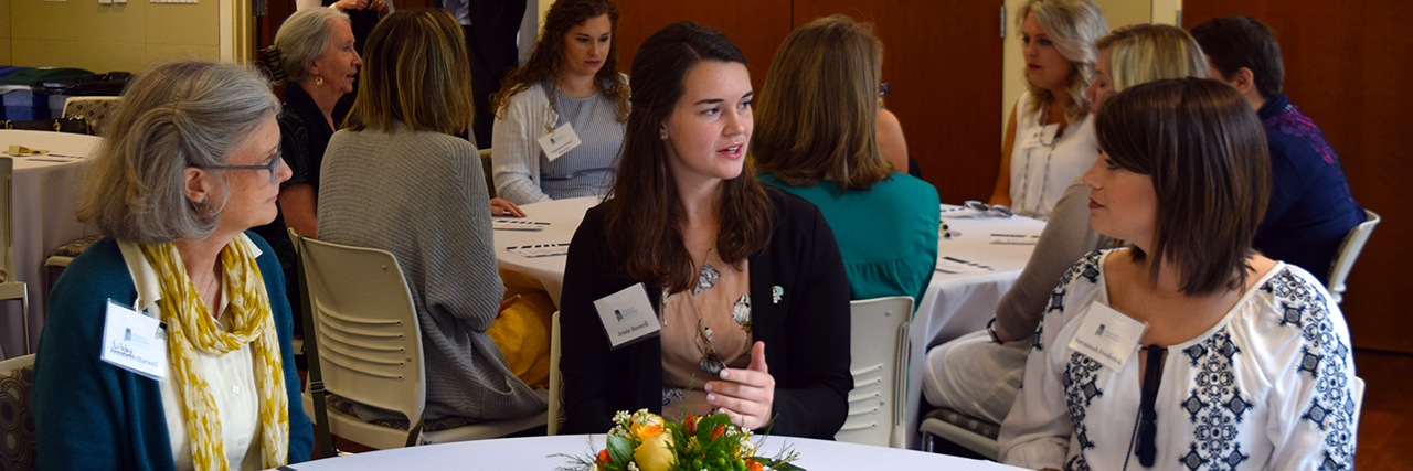 Women in Ag talking at an Auburn, Alabama Southern Luncheon
