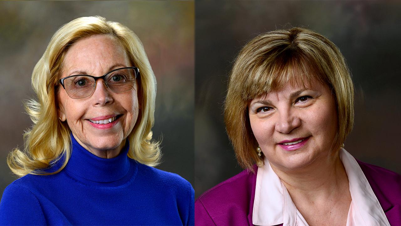Kathy Lawrence & Elina Coneva, professorship
