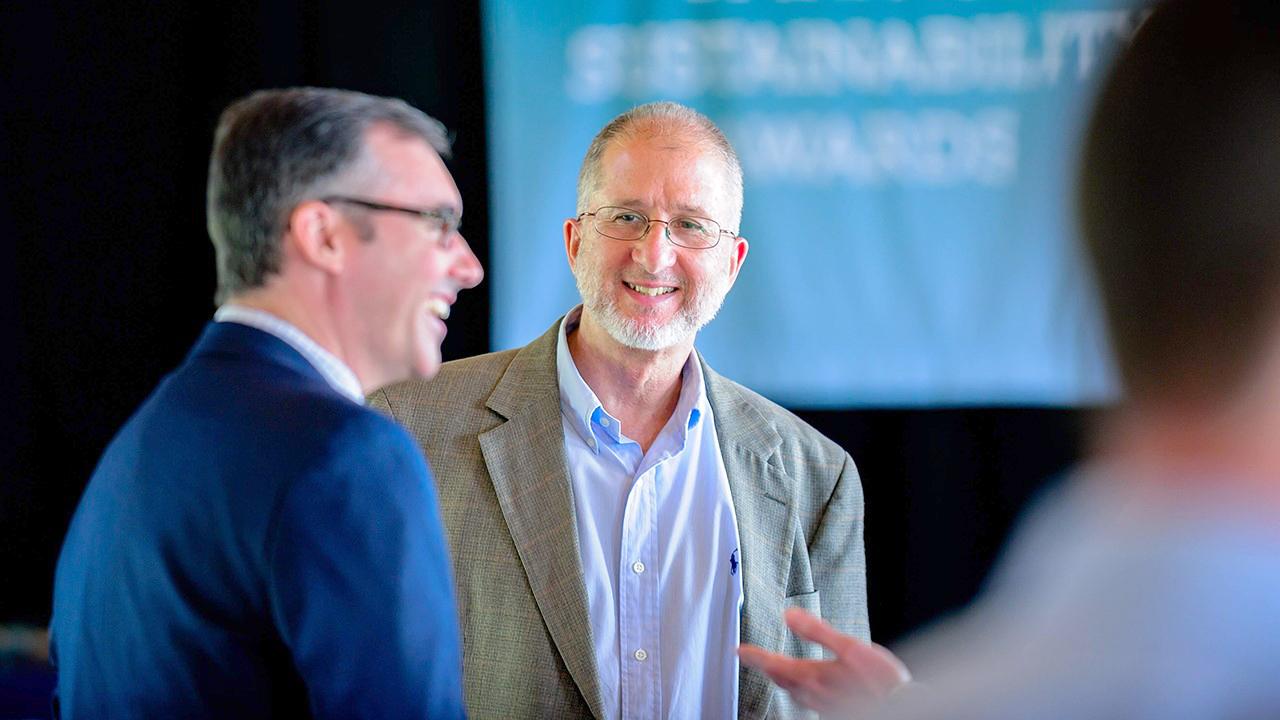 Mark Dougherty, Auburn Biosystems Engineering professor, at the Spirit of Sustainability Awards 2019