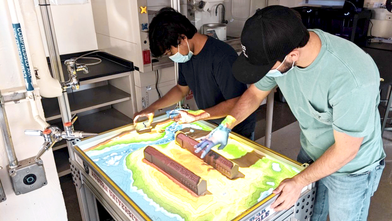 College Students Majoring in Biosystems Engineering, Sand Table project