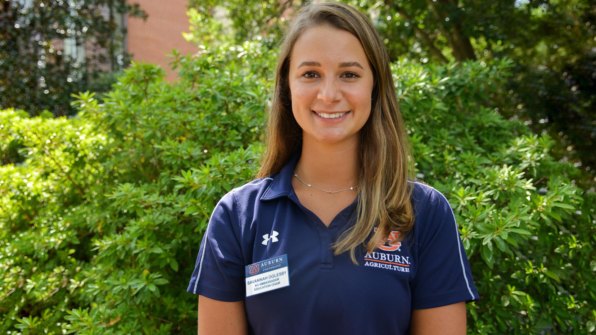 Savannah Oglesby, Education Chair, Auburn Ag Ambassadors, AL Student, 2021