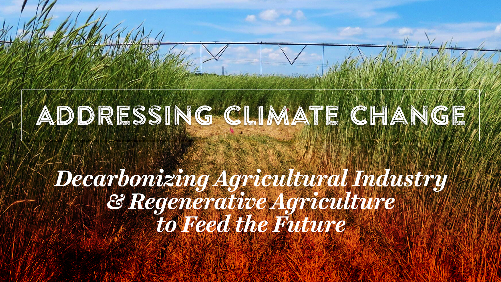 Addressing Climate Change: Decarbonizing Ag Industry and Regenerative Ag to Feed the Future