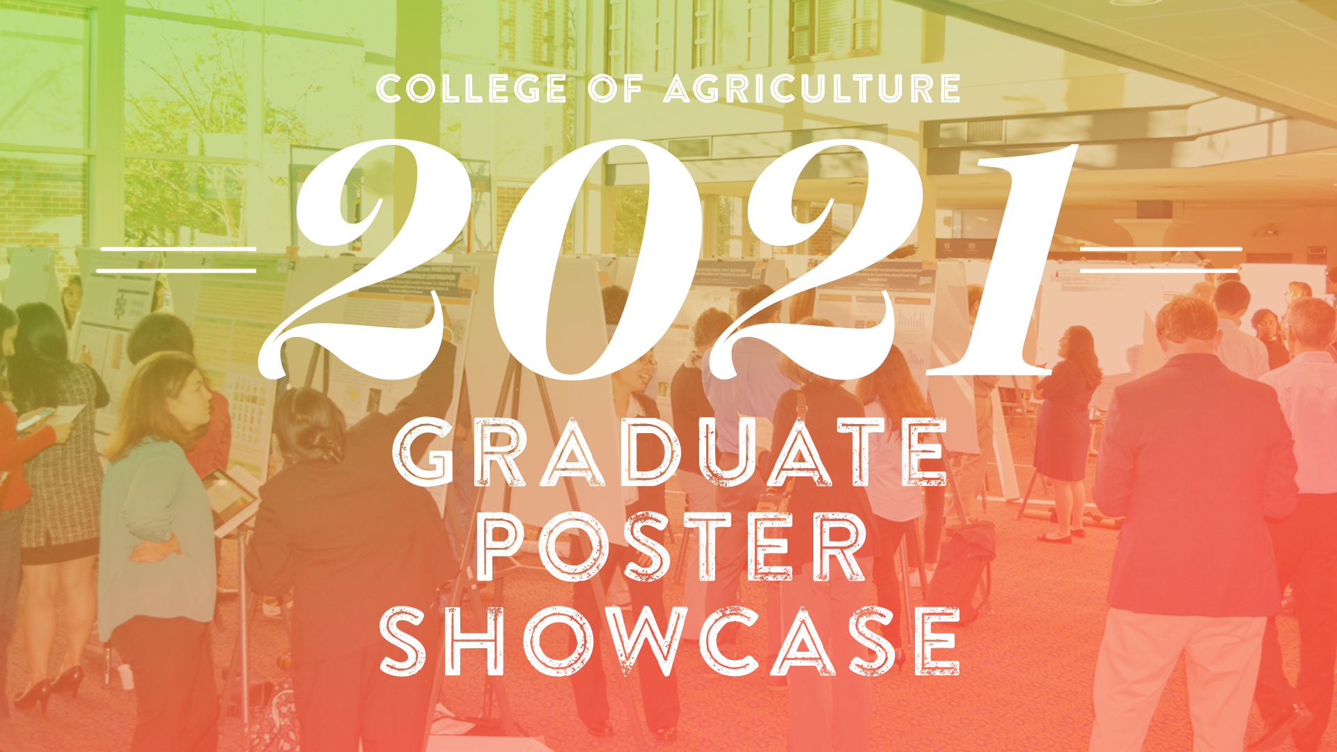 Graduate Student Research Poster Showcase 2021, Auburn University, College of Agriculture
